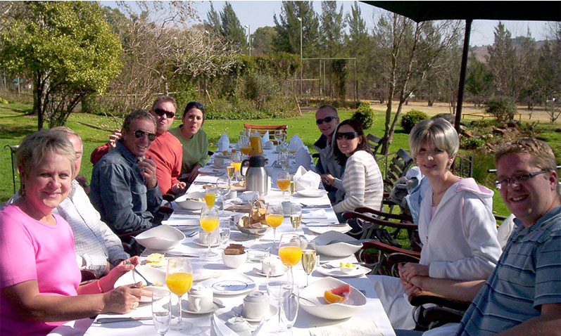 Enjoy a fantastic breakfast after your hot air balloon ride.